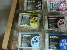 6pcs Genuine Epson 81n High Capacity Value Pack Artisan 635 725 730 1430 RX690