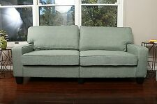 GREEN Fabric Sofa Couch Love Seat College Dorm Apartment Living Room Modern 78""