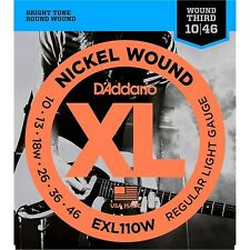 D'Addario EXL110W Nickel Regular Light Wound 3rd Electric Guitar Strings 10-46