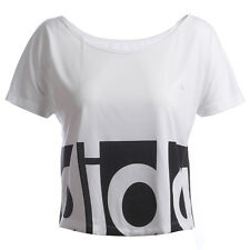 SIZE - EXTRA LARGE - DANCE ADIDAS CLIMALITE  WOMENS TEE SHIRT - WHITE