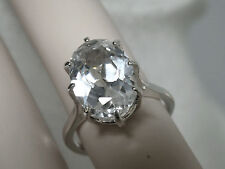 8ct white sapphire 925 sterling silver ring size 4.75 USA made