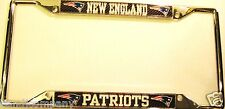 New England Patriots Carbon 3-DCHROME LICENSE PLATE FRAME Dad Rare Item Must See