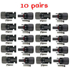 10 pairs 30A MC4 Male Female M/F Wire Cable Connector Set Solar Panel DC 1000V