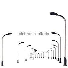 10x 3V Lampione Modello 1:300 Lampada Stradale Modellismo Giardino Paesaggio
