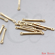 80 Pieces Raw Brass Connector - Link - Bar 20x1.2mm (3366C-L-133)
