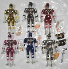 1995 Bandai Mighty Morphin Power Rangers Movie 8in Figure 6 Piece Lot Used