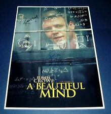 A BEAUTIFUL MIND CAST x4 PP SIGNED POSTER 12X8 CROWE