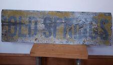 "Vtg Antique OLD SPRINGS Rustic Primitive Metal Painted Virginia Farm Sign 39"""