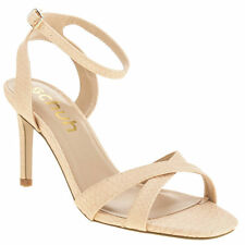SCHUH FANCY WOMENS LOW HEELS ANKLE STRAP SANDALS SHOES SIZE UK7