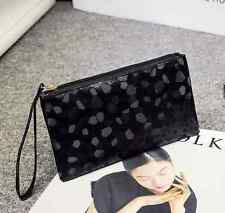 Black Women Lady Toiletry Make Up Bag Zip  Messenger Handbag Small Change Purse