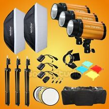 Godox Smart 300SDI 900W Studio Flash Strobe Light Softbox Stand Trigger Kit 220V