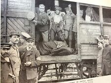 m8-1 ephemera 1938 ww1 picture 1914 british tommies travel in cattle truck