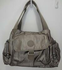 KIPLING fairfax gray metallic nylon handbag purse crossbody