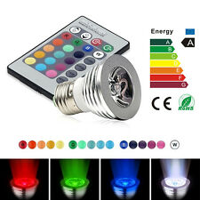 E27 3W Auto Rotating RGB LED Bulb Stage Light Party Lamp Disco Bar Practical