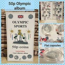 OLYMPIC COIN HUNT ALBUM LONDON 2012 for 29x 50p with mintage! NO COINS, FLAT cap