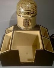Vintage Lowenbrau Lion Beer Bar End Cap Condiment Napkin Straw Stir Holder Sign