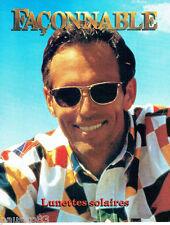 PUBLICITE ADVERTISING 1016  1994  Façonnable  les lunettes solaires homme