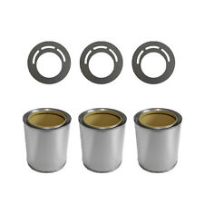3x tinplate cans with saving plates for bio ethanol or gel fireplace burner