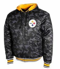 Pittsburgh Steelers Reversible Camo Hoodie Full Front Zip Size 3X Free Ship