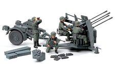 Tamiya 32554 1/48 German 20mm Flakvierling 38 Anti-Aircraft Gun w/4 Figures Kit