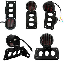 Black Side Mount License Plate Tail Light Bracket 4 Harley Sportster Chopper XL