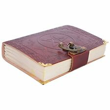 Indian Star Print Leather Diary Handmade Notebook Vintage Travel Diary 7x5''