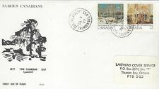 1977  #733-4 Tom Thompson FDC with SCS cachet