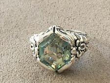 Tourmaline Green Ring set in Sterling Silver 925 Size 10