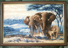 RIOLIS COUNTED CROSS STITCH KIT- 1144- ELEPHANTS IN THE SAVANNAH
