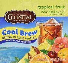 Celestial Seasonings Cool Brew Tropical Fruit Iced Herbal Tea Caffeine Free -- 4