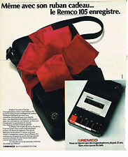 PUBLICITE ADVERTISING   1973   REMCO   magnétophone