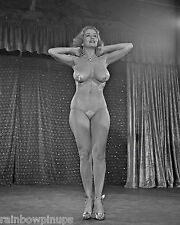 8x10 1953 NUDE PHOTO of Legendary 1950s-1960s Stripper, TEMPEST STORM! (NUDES)