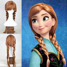 Disney Frozen Princess Anna Adult Ponytail Wig Hair for Halloween Cosplay Party