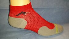 1 pr Men's Performance Athletic Low-Cut Compression Running Socks,RED/GRAY Sz XS