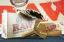 Raw Rolling Paper Wooden Triple Barrel The Trident