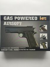 HFC 1911 Gas Powered Airsoft Pistol Black With Wood Grips