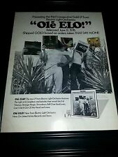 ELO Electric Light Orchestra Ole ELO Rare Original Promo Poster Ad Framed!