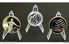 SET OF 10 ACRYLIC DISPLAY STANDS FOR COINS & MEDALS