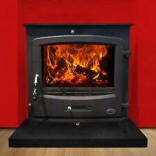 New Heritage Glenveagh 21Kw Room Heater Wood Burning Boiler Stove Matt Black