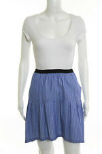 Sea New York Blue Cotton Striped A-Line Skirt Size 4 New 86433