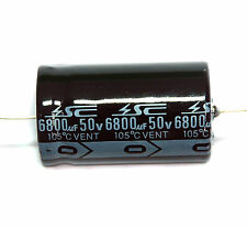 2pc Electrolytic Capacitor GHA 6800uF 50V 105℃ 2000hrs φ25x42mm Axial RoHS SC