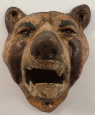 Cast Iron Metal Bottle Opener Brown Or Grizzly Bear Antique Patina