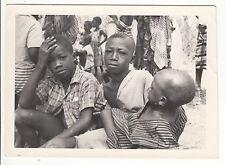 PHOTO MILITAIRE   AFRIQUE  BOUAKE NOVEMBRE 1961 JEUNE ENFANTS