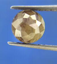 0.82TCW 5.2 MM Gray color Round Rose Cut African Antique Loose Natural Diamond
