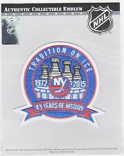 NEW YORK ISLANDERS 43RD ANNIVERSARY PATCH 2014/2015 ISLANDERS JERSEY PATCH
