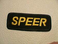 SPEER BULLETS AMMUNITION GUN POWDER CARTRIDGE SHOTGUN SHELL HUNTING PATCH NEW