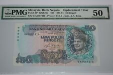 (PL) OLD PRICE: RM 50 WA 0587416 PMG 50 AZIZ TAHA 5TH SERIES REPLACEMENT NOTE