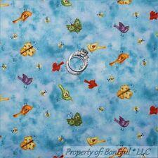 BonEful Fabric Cotton Quilt Blue Sky Cloud Bird Bee Butterfly Boy Girl Dot Scrap