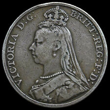 1892 Queen Victoria Jubilee Head Silver Crown – AVF #2
