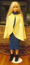 Butter Yellow Silky Mantle or Short Cape for Child, Teen or Small Adult FSGC06